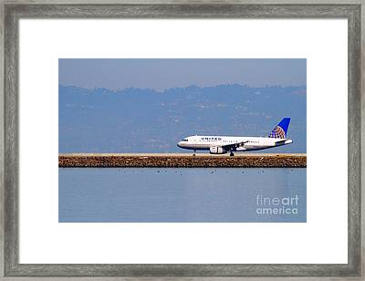 United Airlines Jet Airplane At San Francisco International Airport Sfo . 7d11998 Framed Print by Wingsdomain Art and Photography