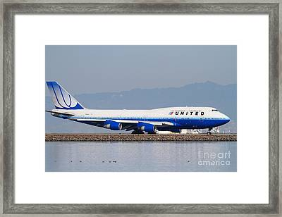 United Airlines Jet Airplane At San Francisco International Airport Sfo . 7d12006 Framed Print