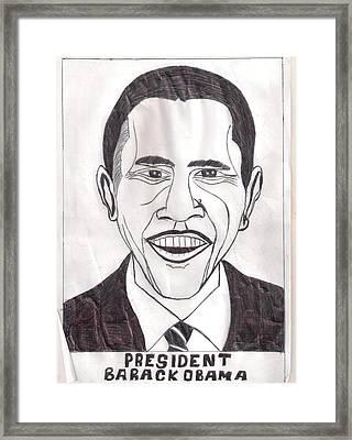United State President Barack Obama Framed Print