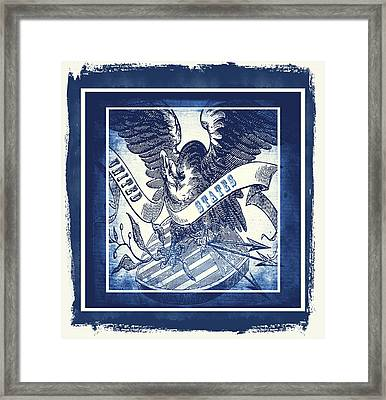United States Blue Framed Print by Angelina Vick