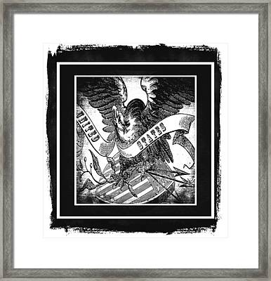 United States Bw Framed Print by Angelina Vick