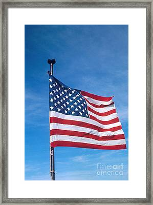 United States Flag Framed Print by Photo Researchers, Inc.