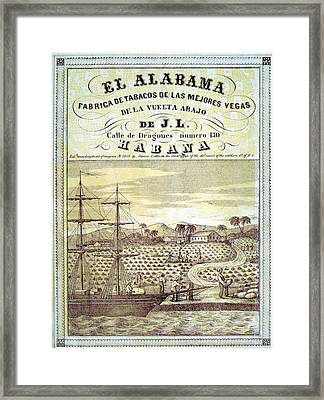 United States Slave States Advocated Framed Print by Everett