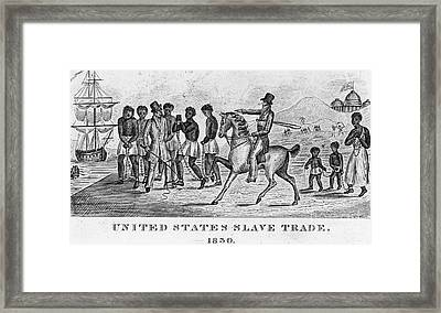 United States Slave Trade Framed Print by Photo Researchers