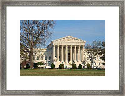 Framed Print featuring the photograph United States Supreme Court by Steven Richman