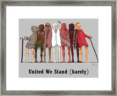 United We Stand Framed Print by R  Allen Swezey