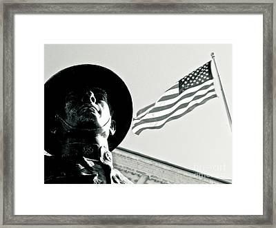 United We Stand Theme Framed Print