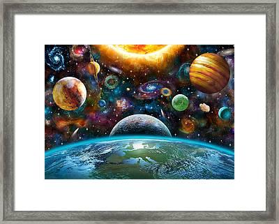 Universal Light Framed Print by Adrian Chesterman
