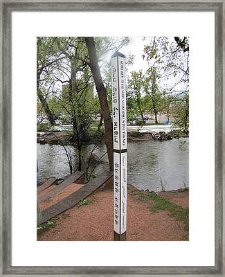 Framed Print featuring the photograph Universal Peace by Shawn Hughes