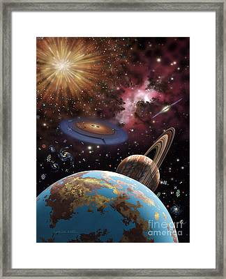Universe II Framed Print by Lynette Cook