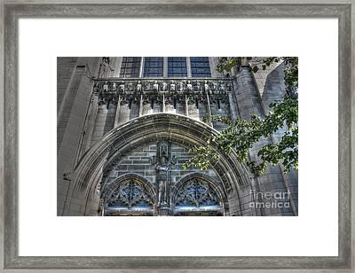 University Of Chicago Chapel Framed Print by David Bearden