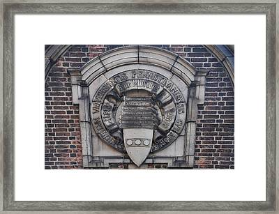 University Of Pennsylvania Framed Print by Bill Cannon