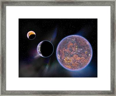 Unknown Worlds Framed Print by Barry Jones