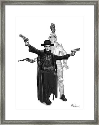 Unlikely Heros Framed Print