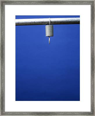 Unloaded Tension Spring Framed Print by Andrew Lambert Photography