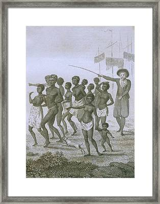 Unloading Of Enslaved Africans In Dutch Framed Print