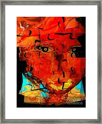 Unlock The Spirit Framed Print by Fania Simon
