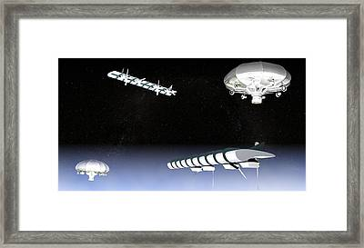 Unmanned High Altitude Aircraft, Artwork Framed Print by Christian Darkin