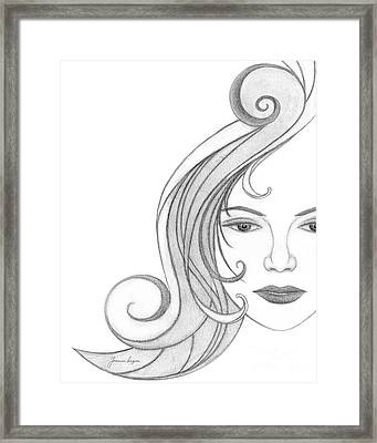 Unnamed Sketch 07 Framed Print by Joanna Pregon