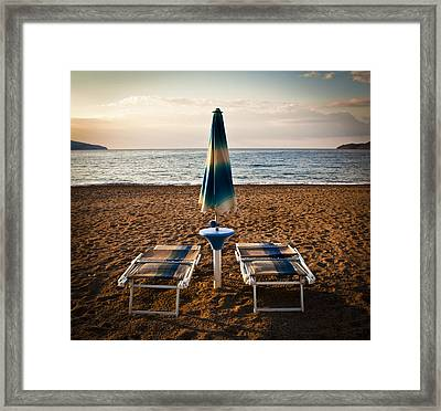 Unopened Framed Print by Akos Kozari