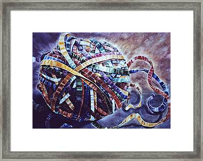 Unraveling Life  Framed Print by Catherine Foster
