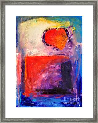Unrestricted Heart Three Framed Print by Johane Amirault