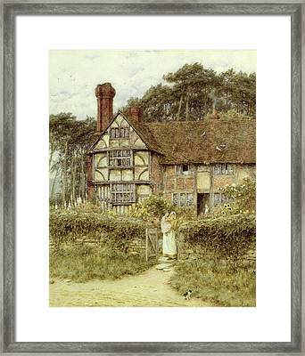 Unstead Farm Godalming Framed Print by Helen Allingham