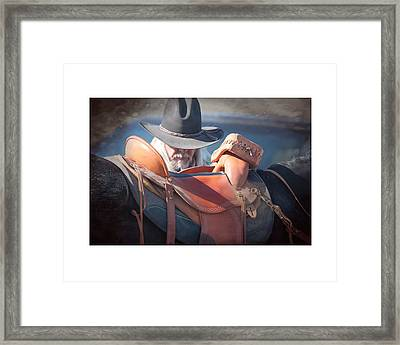 Untacking At The End Of The Day Framed Print