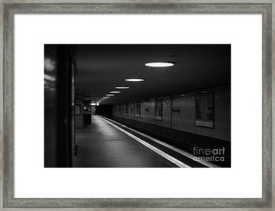 Unter Der Linden Ghost Station U-bahn Station Berlin Germany Framed Print by Joe Fox