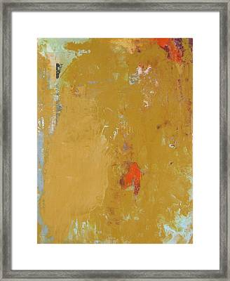 Untitled Abstract - Ochre Cinnabar Framed Print
