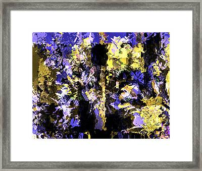Untitled Blue Framed Print