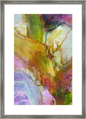 Untitled Iris From Smaller Series Framed Print by Petro Bevza