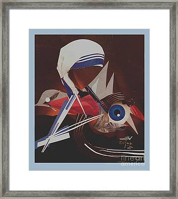 Untitled Paper Collage Framed Print