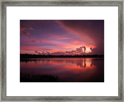 Framed Print featuring the photograph Untitled Sunset-1 by Bill Lucas