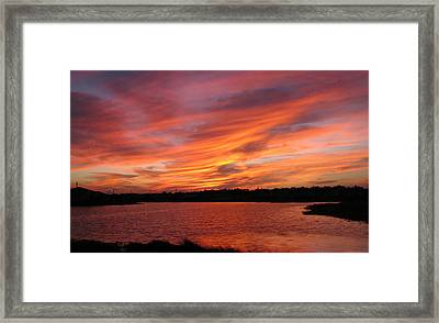 Framed Print featuring the photograph Untitled Sunset-2 by Bill Lucas