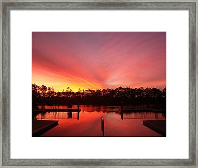 Framed Print featuring the photograph Untitled Sunset-3 by Bill Lucas
