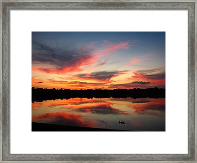 Framed Print featuring the photograph Untitled Sunset-4 by Bill Lucas