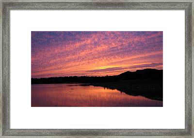 Framed Print featuring the photograph Untitled Sunset-6 by Bill Lucas