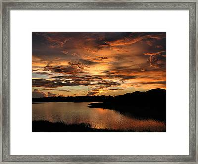 Framed Print featuring the photograph Untitled Sunset-7 by Bill Lucas