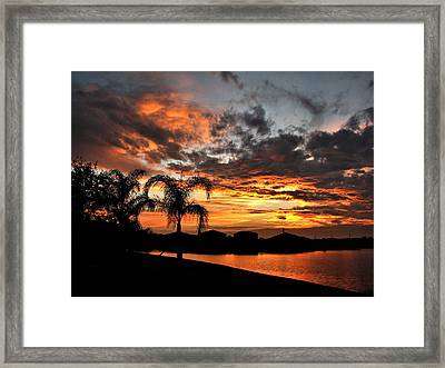 Framed Print featuring the photograph Untitled Sunset-8 by Bill Lucas