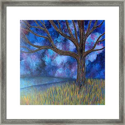 Framed Print featuring the painting Untitled Tree 0001 by Monica Furlow