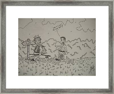 Unwanted Company Framed Print by Paul Chestnutt