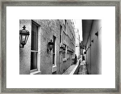 Framed Print featuring the photograph Up An Alley by Bob Wall