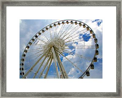 Up And Away Framed Print by April Wietrecki Green
