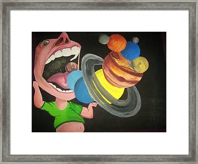 Up In Space Framed Print by Patricia Bergmen