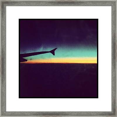 Up In The Air :) On My Way To #london Framed Print