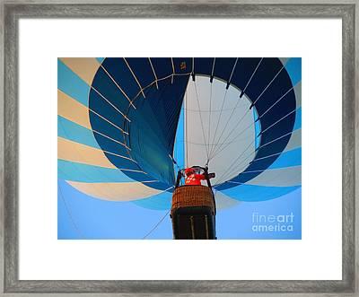 Framed Print featuring the photograph Up Into The Blue. Oshkosh 2012. by Ausra Huntington nee Paulauskaite