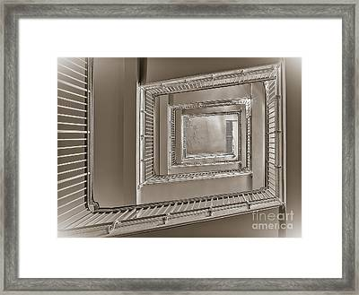 Up Or Down We Go Framed Print by Susan Candelario