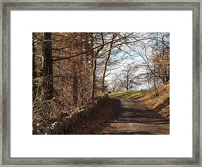 Up Over The Hill Framed Print
