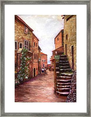 Up The Alley Framed Print
